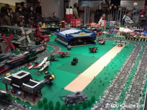 Temporary Lego exhibit at the Model Railroad Museum