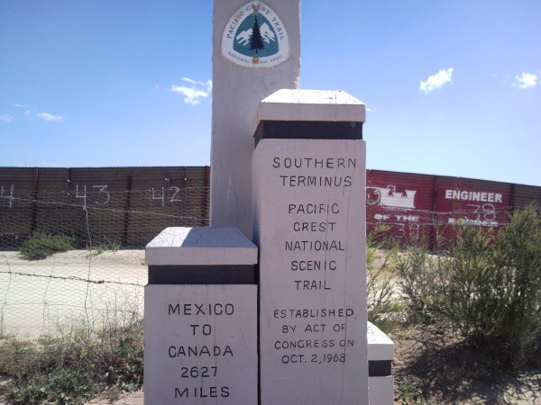 Image result for pacific crest trail mexican border