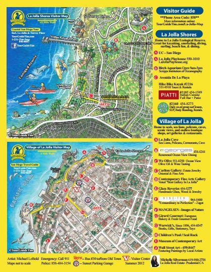 La Jolla California Map Visitor Map of La Jolla, What to See in La Jolla, Special Offers