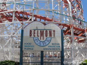 Welcome sign at Belmont Park