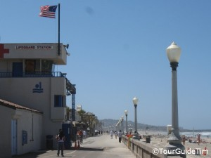 Lifeguard station in Mission Beach