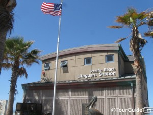 Lifeguard station in Pacific Beach