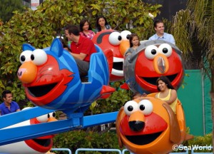 Elmo children's ride at Sea World San Diego