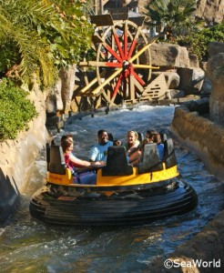 Shipwreck water ride at SeaWorld San Diego