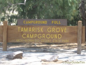 Campground in the Anza-Borrego Desert