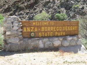 Welcome Sign to the Anza-Borrego Desert