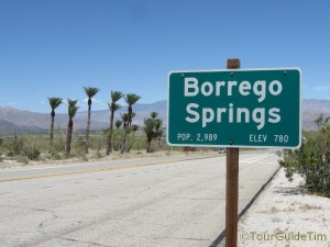 Entrance Sign to Borrego Springs