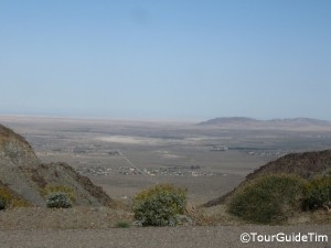 Panorama of desert around Borrego Springs