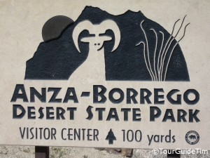 Visitor Center Entrance Sign