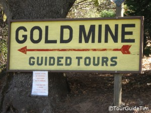 Gold Mine Tours entrance