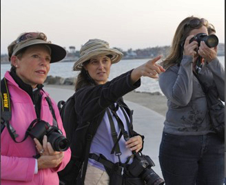 Photography Tour Guests at the harbor