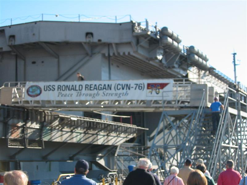 USS Ronald Reagan Tour Photo